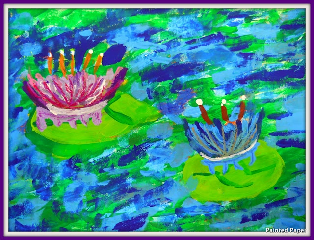 Monet lily paintings