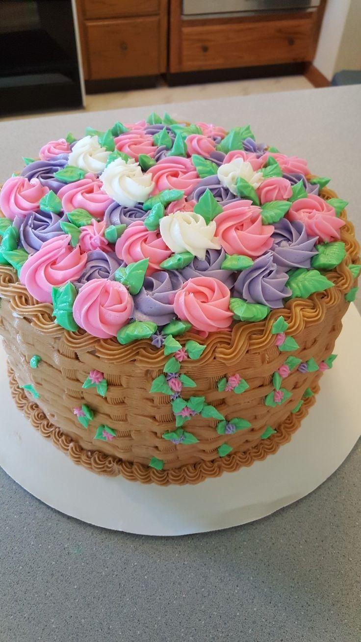 My Basket Weave Cake!!