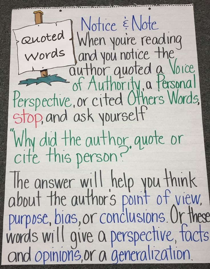 Quoted Words: Notice & Note for Nonfiction
