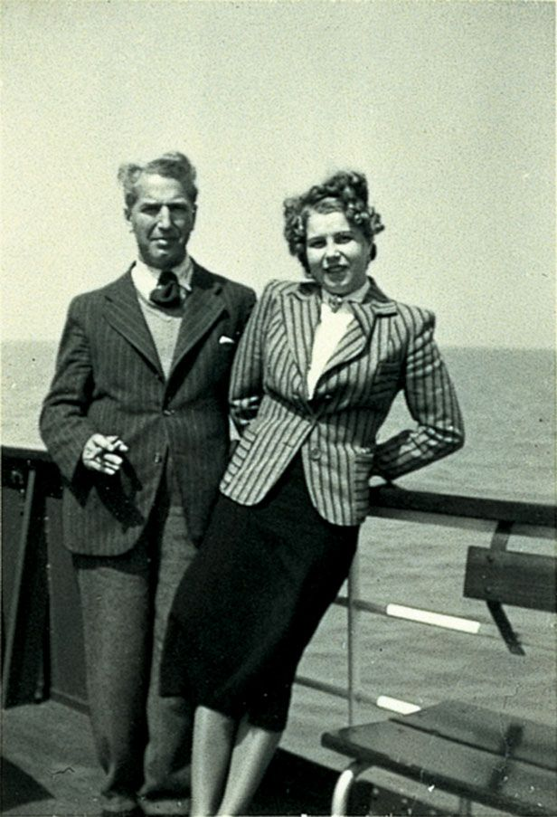 Fritz Pfeffer and Charlotte Kaletta in Noordwijk, the netherlands, 1939. This man was in hiding with Anne Frank.