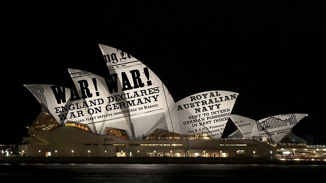 How projections will light up the Opera House during the International Fleet Review. Taking place on Sydney Harbour from 3 – 11 October 2013, the International Fleet Review will commemorate the centenary of the first Royal Australian Navy fleet entry into Sydney Harbour on 4 October 1913.
