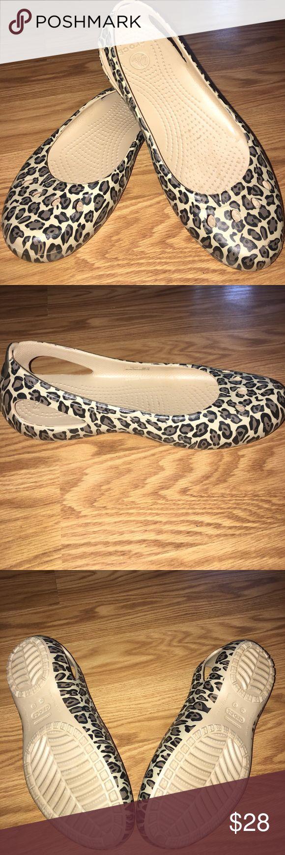 CROCS- Kadee Animal print flats Brand new never worn CROCS• Make me an offer! CROCS Shoes Flats & Loafers