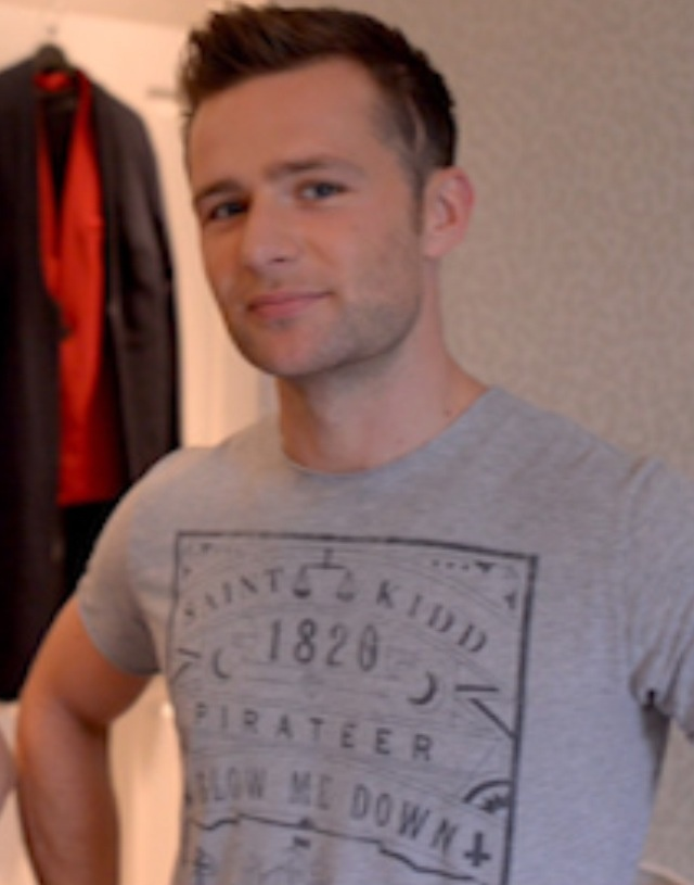 Harry Judd - Mcfly Drummer wearing the Blow Me Down tee.