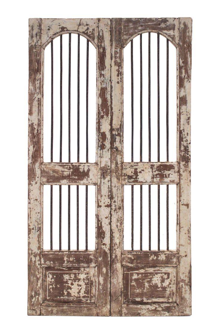 Conely   Puertas de madera, metal y forja, rústicas, artesanales. Decoración.#estilodecadente