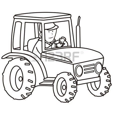 traktor - omalovánky