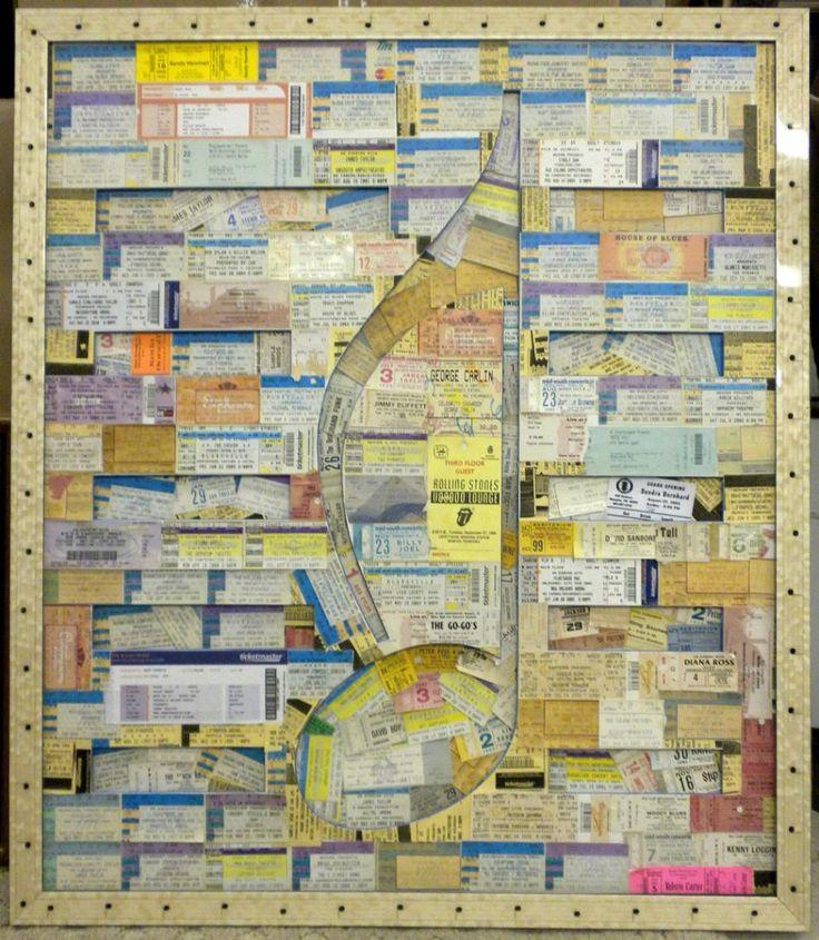 Best 27 Ways to Display Concert Tickets ideas on Pinterest | Concert ...
