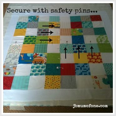 Pin Layers Together How To Make A Cotbed Quilt For
