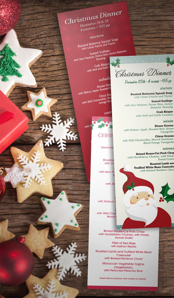 Préférence 13 best Christmas images on Pinterest | Restaurant menu design  WQ26