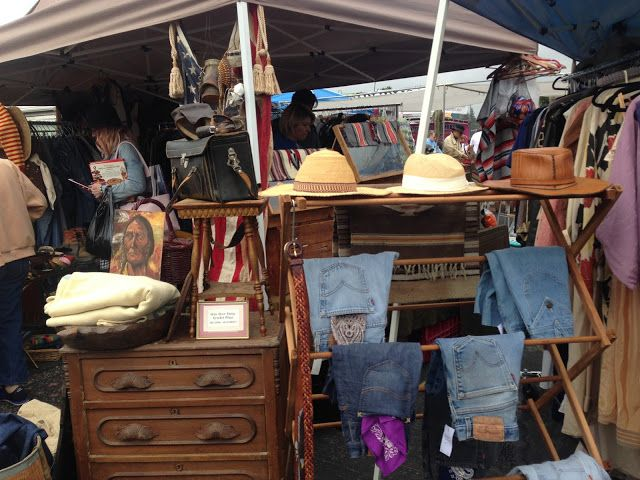 Another Day at The Rose Bowl Swap meet in Pasadena -Look at these interesting booths!