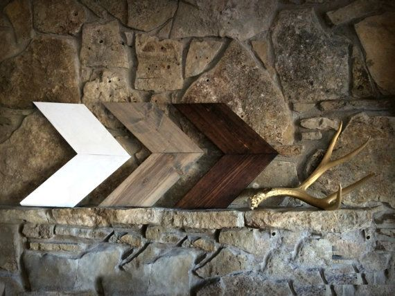 Rustic Wooden Arrow Set, Set of Three Chevron Arrows, Wood Arrow Signs, Woodland Nursery Decor, Rustic Home Decor, Rustic Nursery Decor