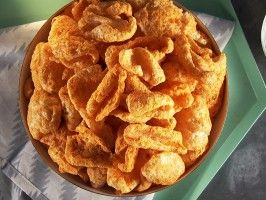 Pork Rind Cheese Puffs : Recipes : Cooking Channel