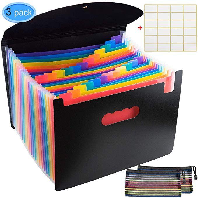 24 Pocket Expanding File Folder A4 Letter Size Accordion File
