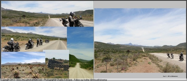 Extreme wide open spaces and heat in the Karoo - excellent for #Adventure #Motorcycles