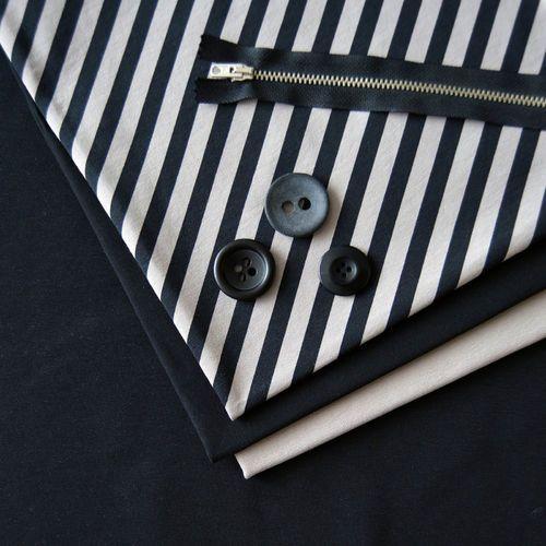 Diagonal Stripe, Soft Gray/ Black