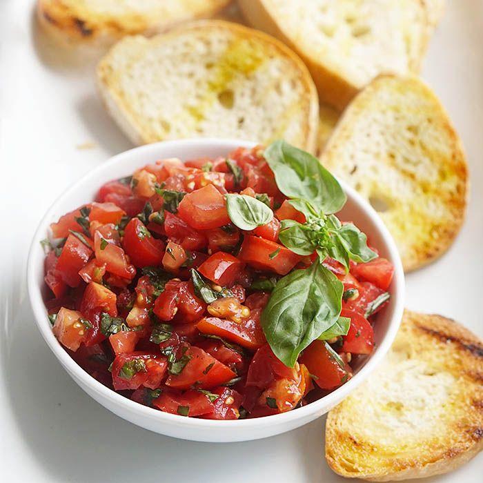 How to Make Bruschetta al Pomodoro | Yummy Mummy Kitchen | A Vibrant Vegetarian Blog