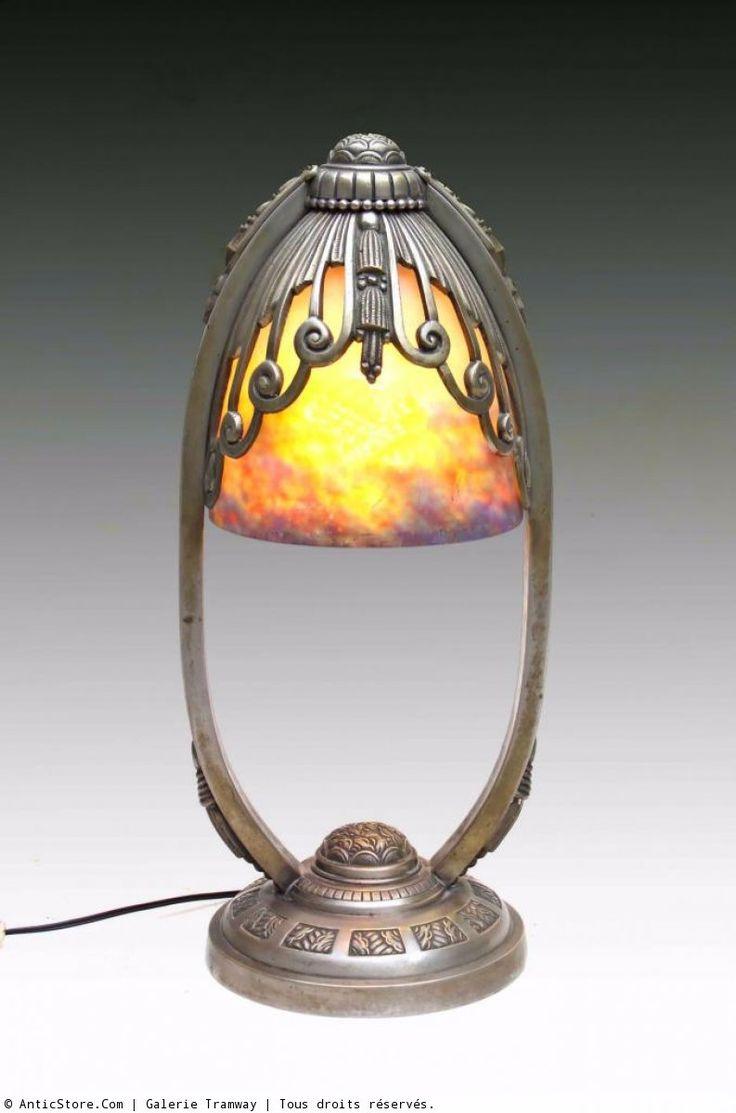 Lampe Art Déco signée MULLER - 1920-1925