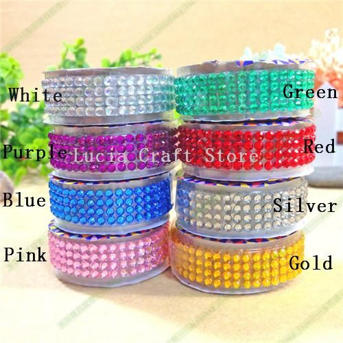 [Visit to Buy] Lucia crafts 18mm*50cm Colorful acrylic Rhinestone self adhesive sticker ribbon belt Scrapbooking Material 1piece/lot 006013014 #Advertisement