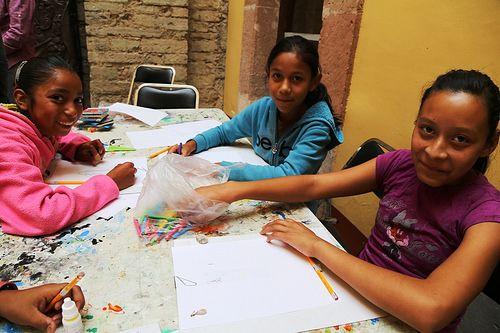 Continúan los talleres de dibujo en le Museo del Pueblo de Guanajuato, hoy nos acompañaron pequeños de Yerbabuena y Santa Rosa.