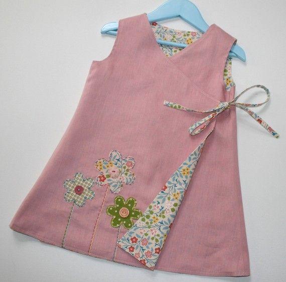 CRISS CROSS Reversible Dress PDF Pattern for Girls in Sizes 1-6