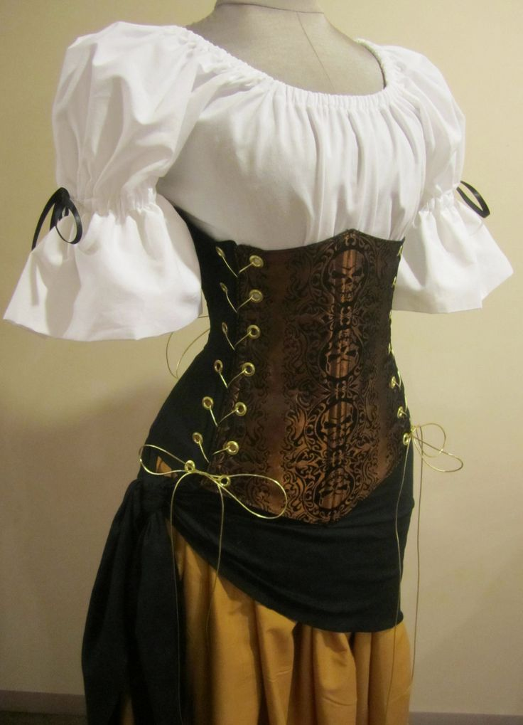 Skull Pirate Corset - renaissance clothing, medieval ... | 736 x 1019 jpeg 70kB