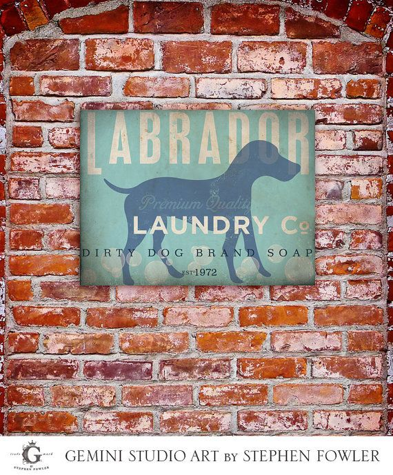 Labrador Laundry Company illustration graphic art by geministudio, $49.00 For our laundry Room :-)