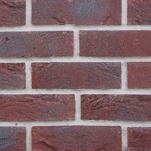 Premier Dark Red – Cast Brick Slips give the appearance of hand laid brick walls but with the convenience of easy installation and the benefit of huge cost savings.