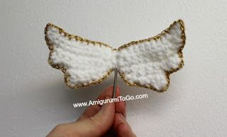 Amigurumi Angel Wings With Halo  ~ free pattern ᛡ