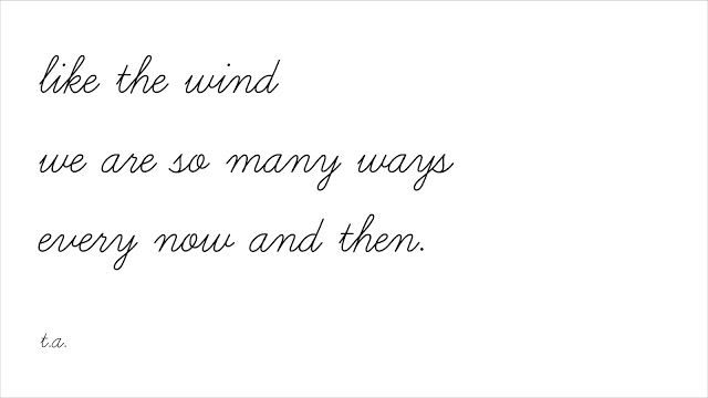 These Words: like the wind.