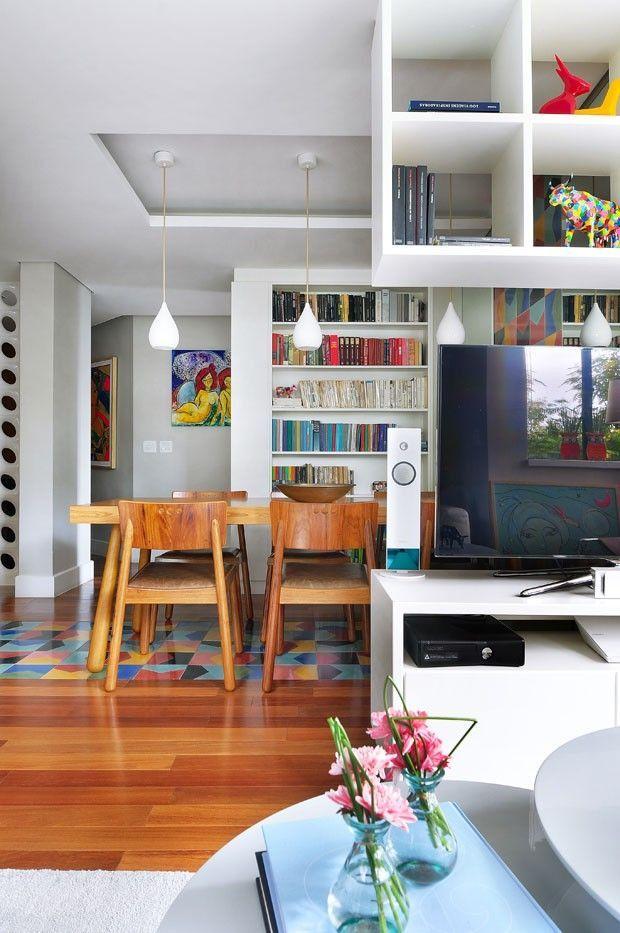 Apartamento Decorado De 100 M Menos Paredes Mais Cor Achados