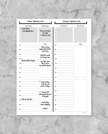 Build your own planner below are printable items that you for Build your own planner