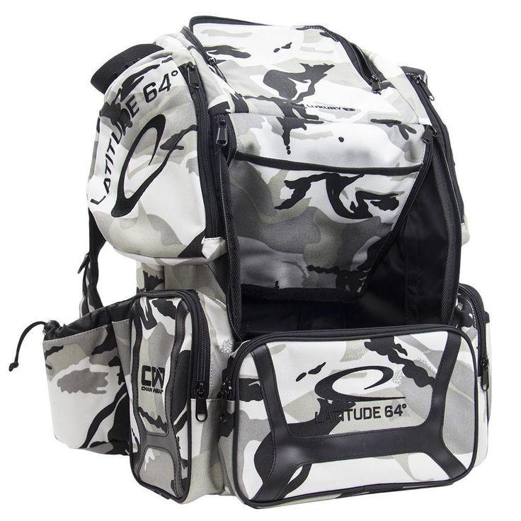 Disc Golf 20851: Latitude 64 Dg Luxury E3 Backpack Disc Golf Bag Winter Camo -> BUY IT NOW ONLY: $140.99 on eBay!