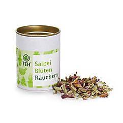Duftende Bio-Salbeiblüten und -blätter zum Räuchern, händisch geerntet und getrocknet im Pinzgau – jetzt bei Servus am Marktplatz kaufen.