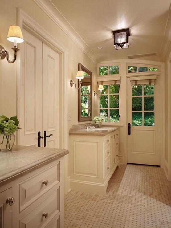 Popular Lutezia Freestanding Soaking Tub White Ivory Cream Gray Mosaic Tiles