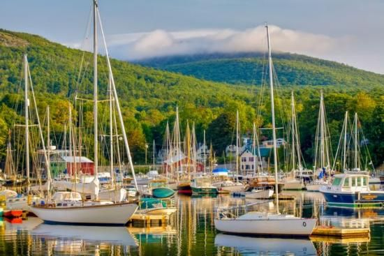 Camden Harbor - Rated #1 in Down East Magazine's Prettiest Villages in Maine (www.downeast.com)