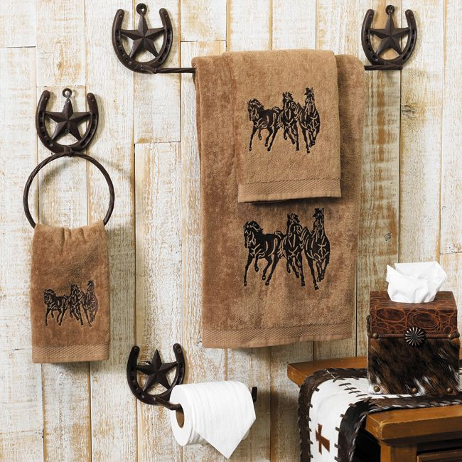 western bathroom - Western Bathroom Accessories Rustic