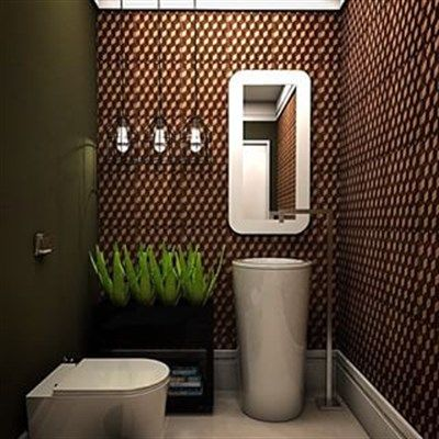 Banheiro   Bathroom   Lavabo   pastilhas e revestimentos - CARBONE DELUXE CONCRETO