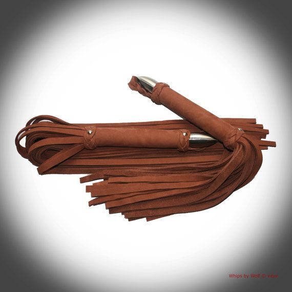 Flogger set leather BDSM toy 30 thick falls each by WhipsbyWolf