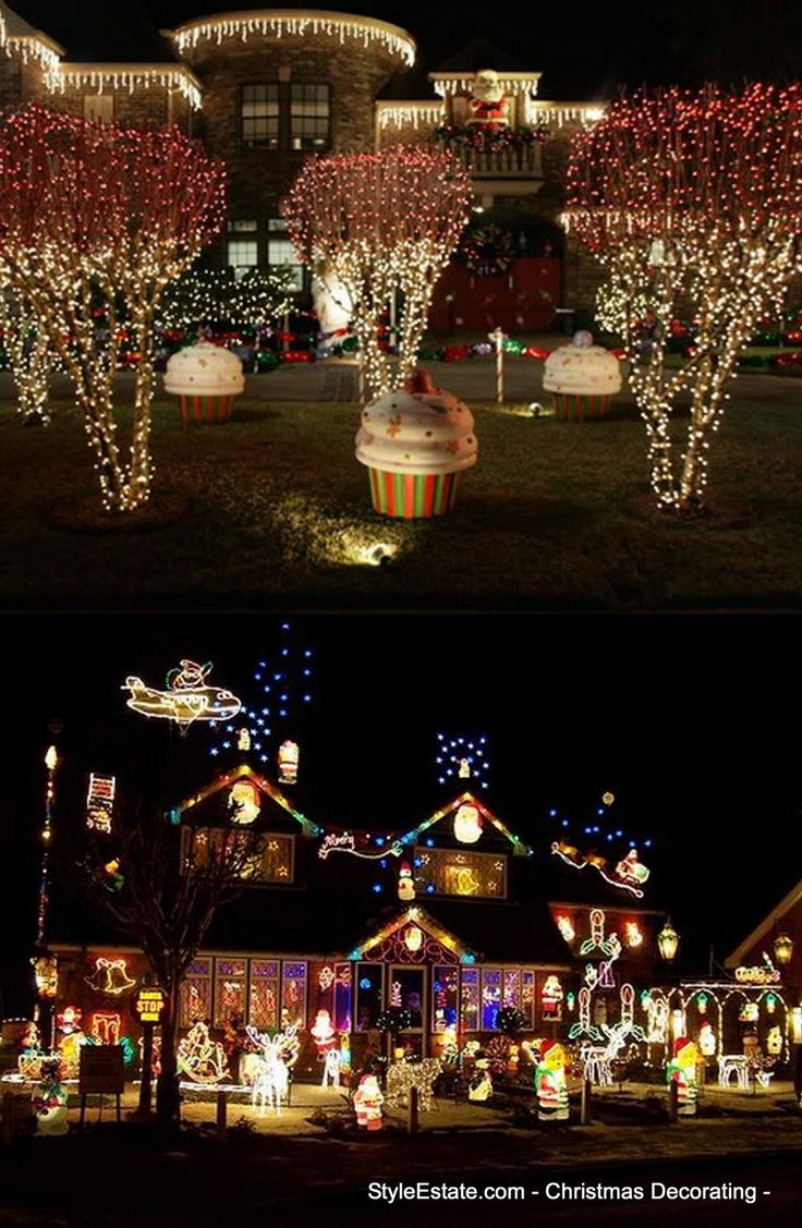 Best way to hang christmas lights - 50 Homes With Extraordinary Exterior Christmas Light Displays