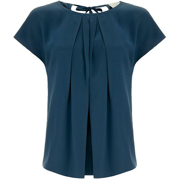 Goat Wagner Teal Sleeveless Silk Blouse ($175) ❤ liked on Polyvore featuring tops, blouses, blue, blue silk blouse, blue short sleeve top, sleeveless tops, silk top and blue silk top