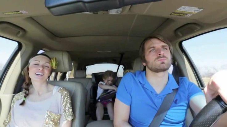 Parents Sing Disney's Frozen (Love Is an Open Door) love how the daughter in the background is care-free