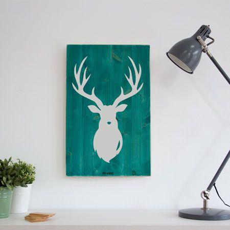 Woody L. Cuadros de madera artesanales y decorativos de estilo nórdico y vintage. #artesania #decoración