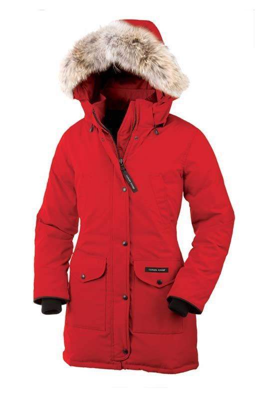 Canada Goose Women Red Trillium Parka CAD338.31 www.downjacketche...
