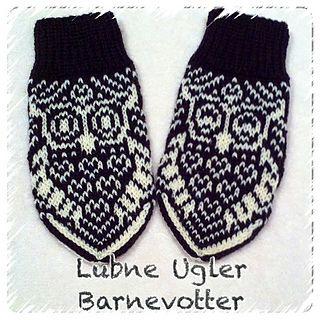 Lubne Ugler Barnevotter http://www.ravelry.com/patterns/library/lubne-ugler-barnevotter