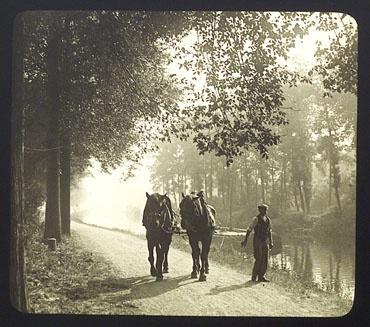 Henri Péraud, Valenciennes. Bords de l'Escaut, vers 1930 (plaque stéréoscopique).