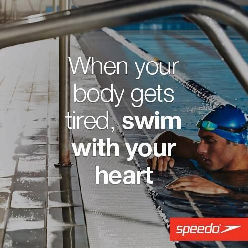 Swim with your heart ...