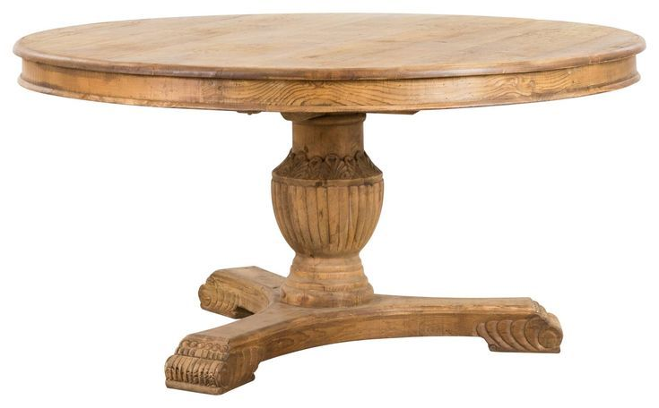 Berkley Round Pine Dining Table Natural Pine Dining Table