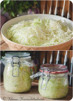 Sauerkraut im Glas, selbstgemacht