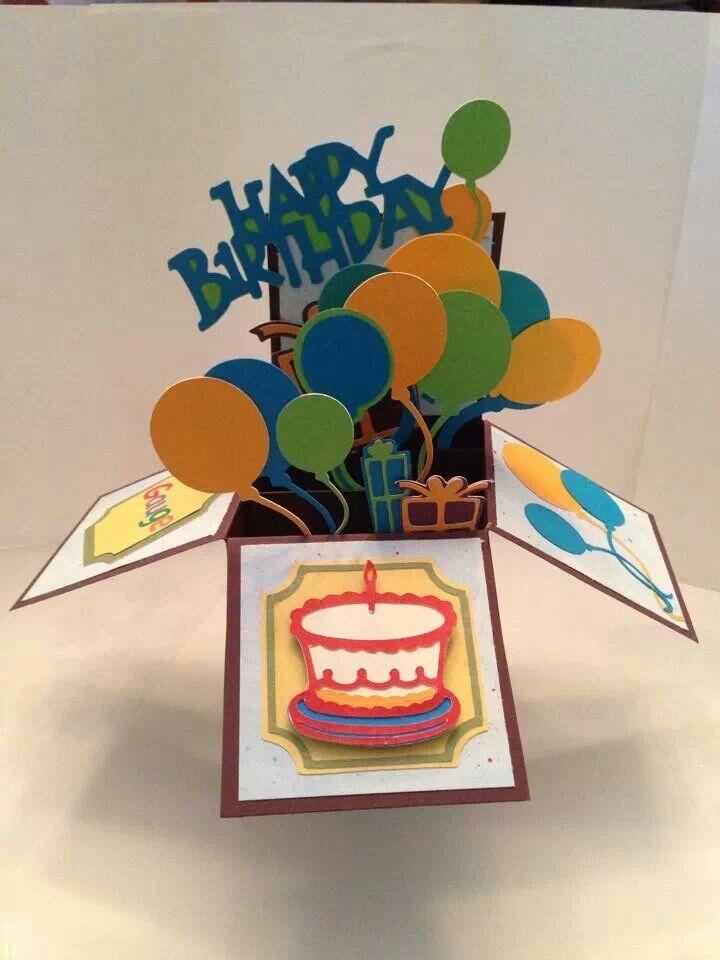 Birthday card in a box