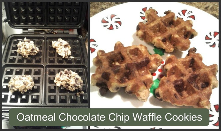 Amazing Oatmeal Chocolate Chip Waffle Cookies and Peppermint Popcorn ...