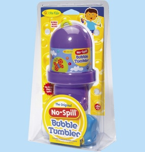 No-spill bubbles. Well, that's perfectly genius!